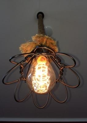 Scheepstouw lamp bloem