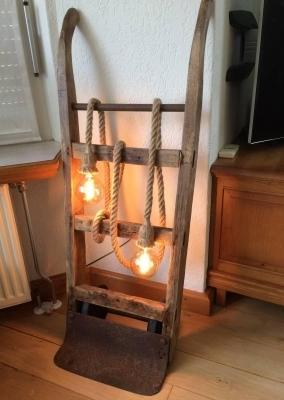 Oude molen steekwagen lamp 2lps
