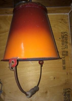 Emaille emmer lamp